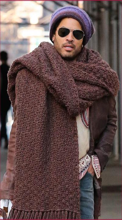 cachecol quentinho no inverno