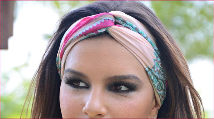 faixa lenço cabeça cabelo